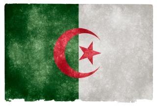 Argélia bandeira do grunge grungy