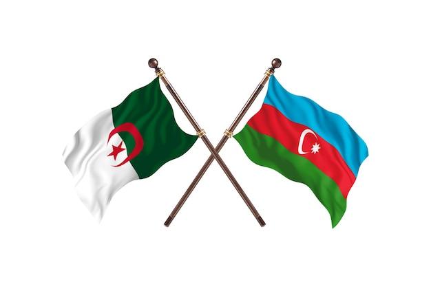Argélia contra azerbaijão duas bandeiras