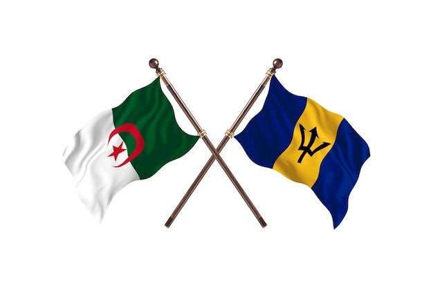 Argélia contra barbados two flags
