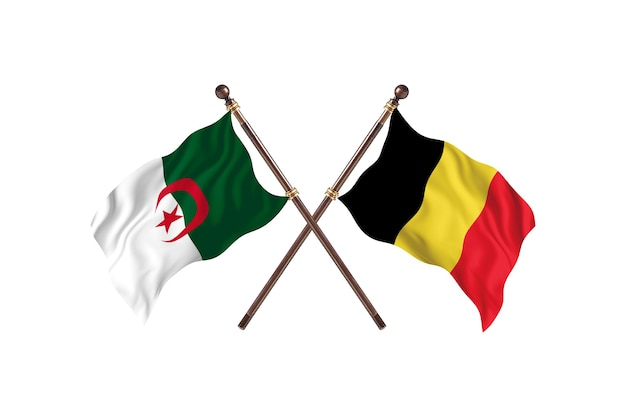 Argélia contra bélgica two flags