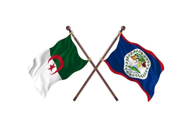 Argélia contra belize two flags