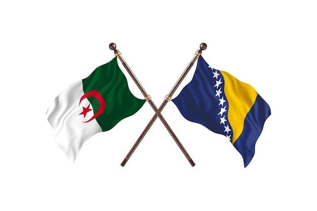 Argélia contra bósnia e herzegovina duas bandeiras