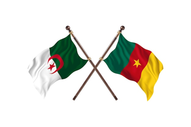 Argélia contra camarões two flags