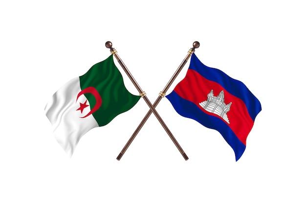 Argélia contra camboja duas bandeiras