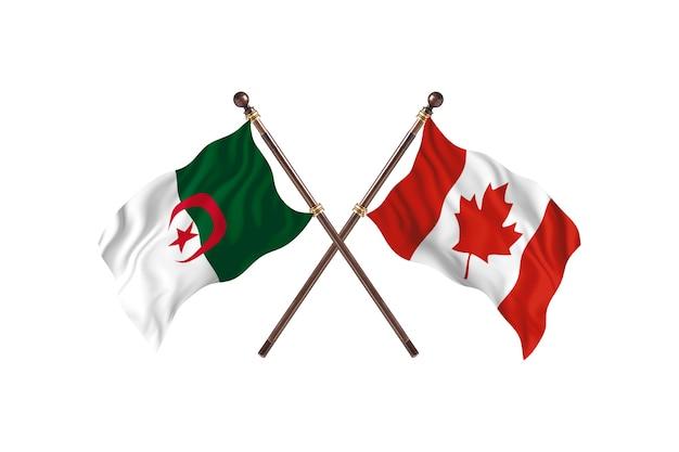 Argélia contra canadá two flags