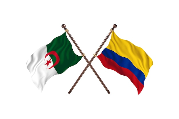 Argélia contra colômbia duas bandeiras