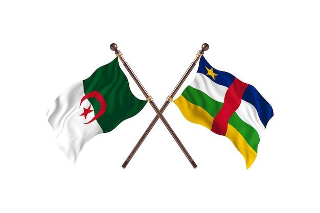 Argélia contra duas bandeiras da república centro-africana