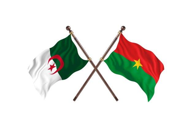 Argélia contra duas bandeiras de burkina faso