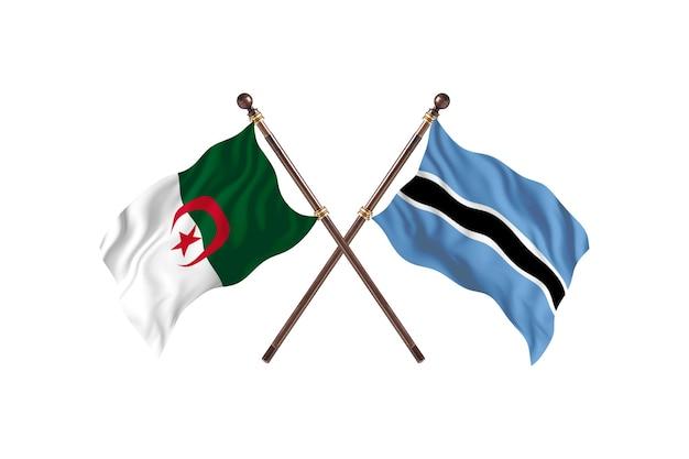 Argélia versus botswana duas bandeiras