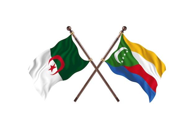 Argélia versus duas bandeiras de comores