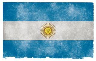 Argentina bandeira do grunge sujo