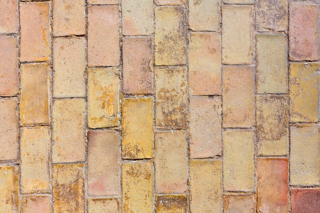 Argila antiga textura de revestimento de tijolos no castelo de alicante