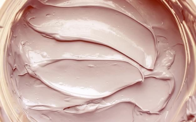Argila de máscara de textura de cosméticos para rosto e corpo.