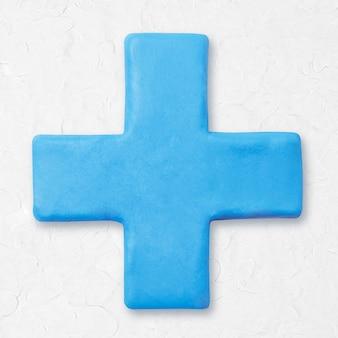 Argila mais sinal de matemática azul bonito gráfico para crianças
