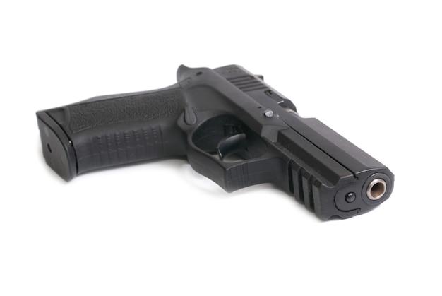 Arma preta isolada