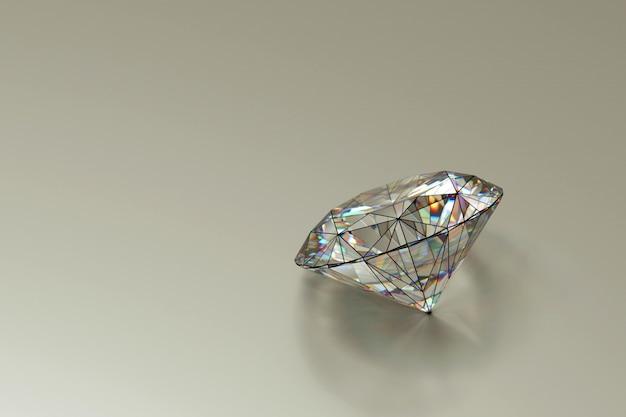 Armação de arame de diamante colocada no fundo branco