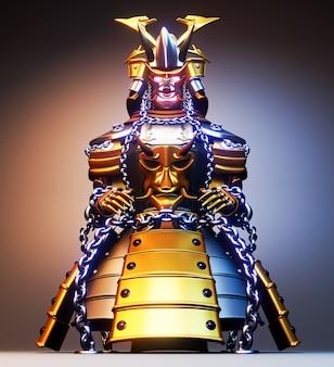 Armadura de bushido - armadura de guerreiro samurai estilo japonês.