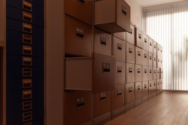 Armário de arquivo.