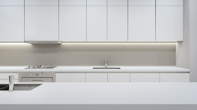 Armário de cozinha moderna em casa de luxo