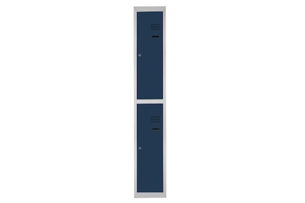 Armários azuis para vestiário. alterar caixa de metal da sala cinza