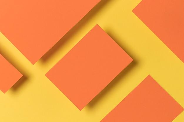 Armários de formas geométricas coloridas