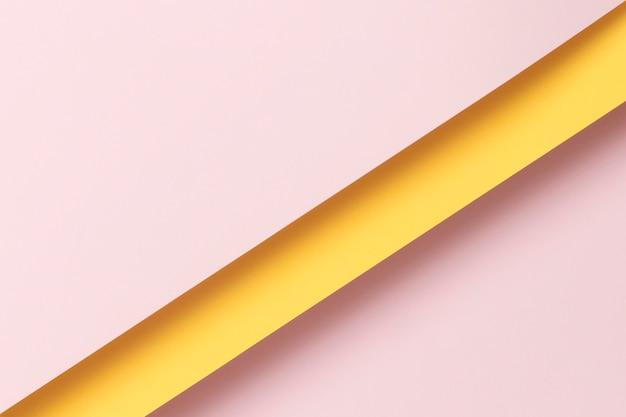 Armários rosa e amarelos claros