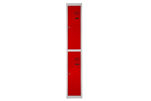 Armários vermelhos para vestiários. alterar caixa de metal da sala cinza