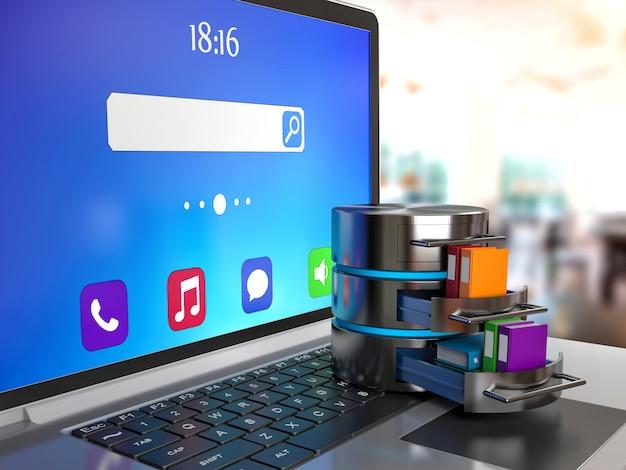 Armazenamento de dados para laptop
