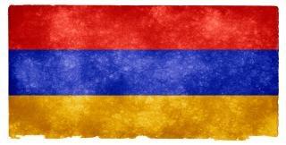 Arménia grunge bandeira