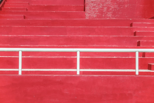 Arquibancadas do estádio - vermelho