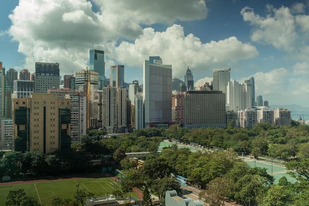 Arquitectura da cidade de hong kong no dia