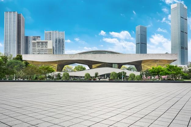 Arquitectura da cidade em um dia claro