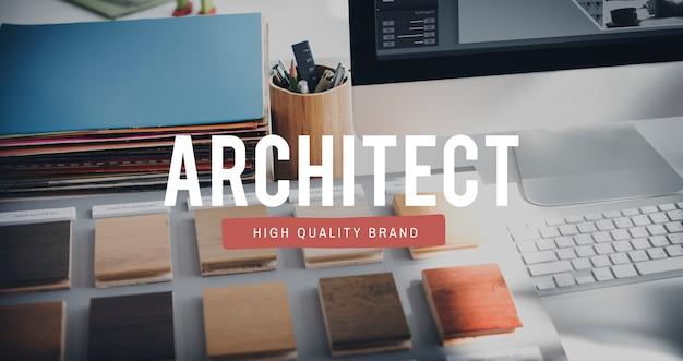 Arquiteto designer engenheiro conceito de experiência em ocupação criativa