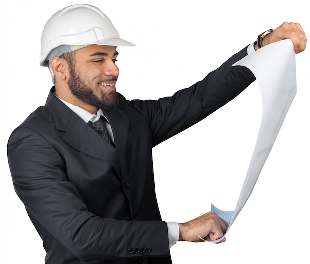 Arquiteto homem afro-americano