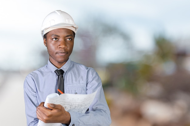 Arquiteto masculino afro-americano