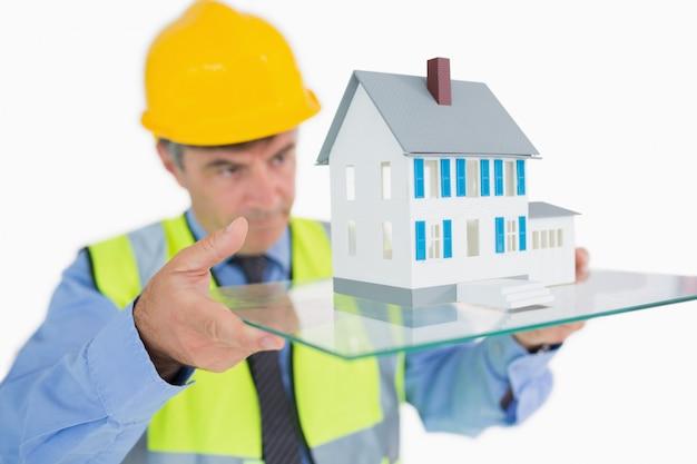 Arquiteto, olhar, holograma, casa