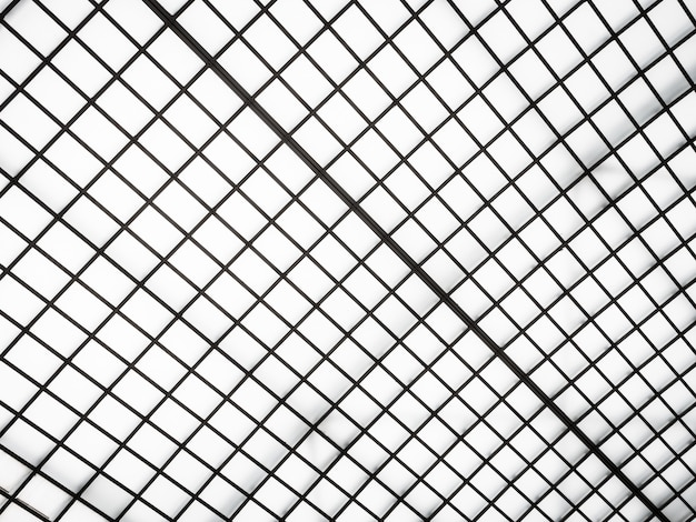 Arquitetura abstrata do exterior do telhado de vidro
