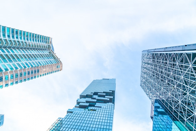 Arquitetura arranha-céu comercial edifício exterior