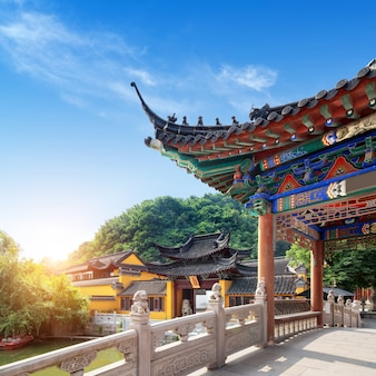 Arquitetura clássica chinesa localizada em zhenjiang