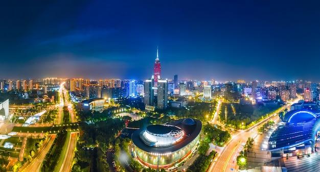 Arquitetura da cidade de changzhou paisagem noturna