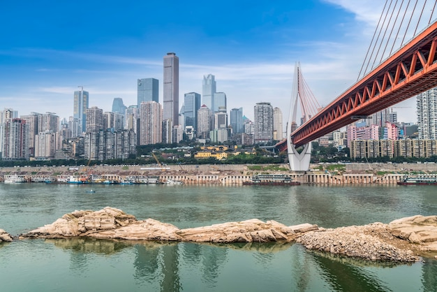 Arquitetura da cidade de chongqing horizonte da paisagem