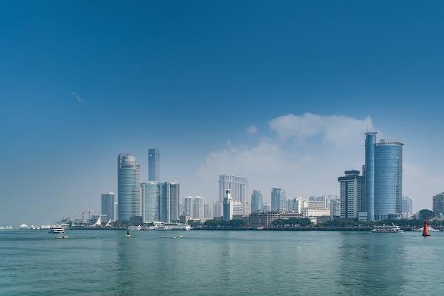 Arquitetura da cidade de xiamen horizonte da paisagem