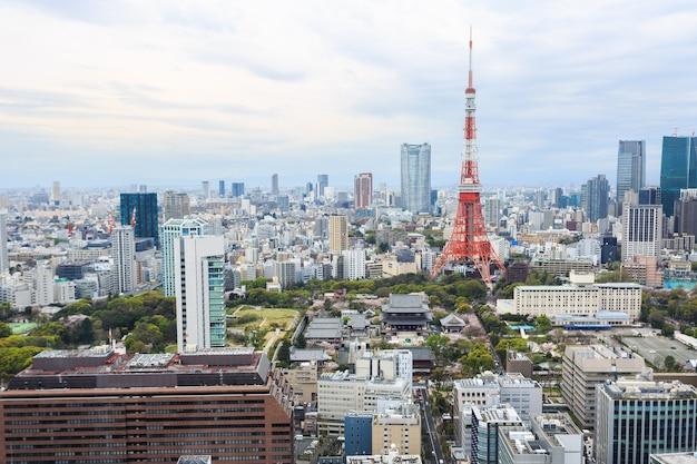 Arquitetura da cidade japão da torre do tóquio.