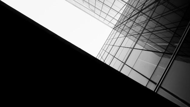 Arquitetura de geometria na janela de vidro - monocromático