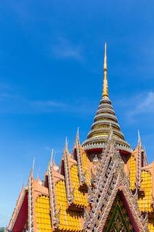 Arquitetura, de, tailandês, templo, wat, thum, sua, kanchanaburi, província, tailandia