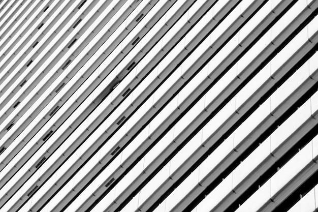 Arquitetura do edifício moderno padrão preto e branco