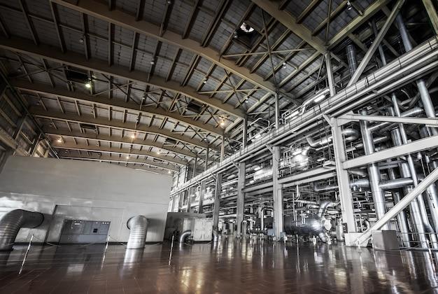 Arquitetura do sistema de tubulação da casa de força para industrial