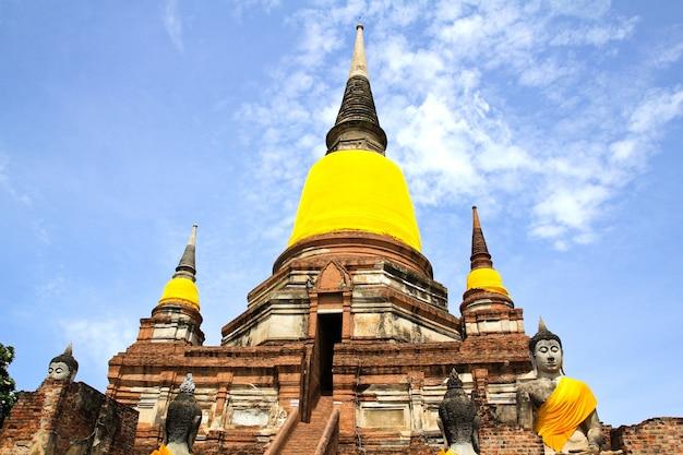 Arquitetura do templo antigo, tailândia.