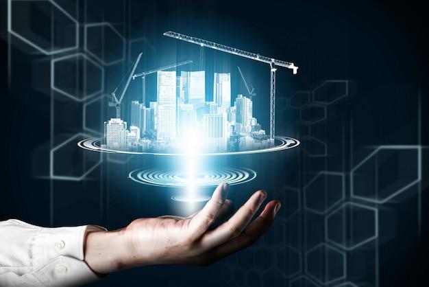 Arquitetura e engenharia de construção inovadoras.