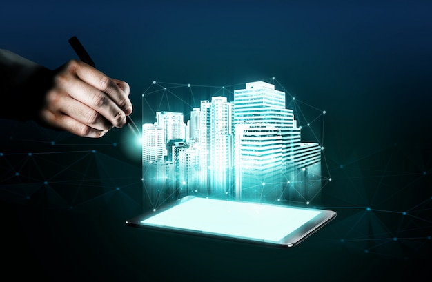 Arquitetura e engenharia de edifícios inovadoras.